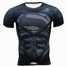 Supreme Fitness Compression Shirt Men Superhero Punisher Skull Captain America Superman 3D T Shirt Bodybuilding Crossfit T Shirt