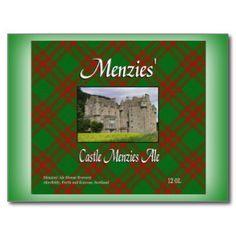Menzies' Castle Menzies Ale Post Cards
