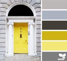 Znalezione obrazy dla zapytania żółte dodatki do szarego salonu