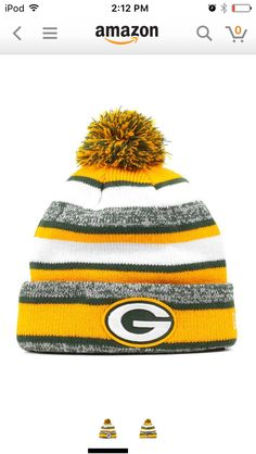 e4fa673df7e Green Bay Packers on the Field Sport Knit Winter Pom Beanie Hat by New Era