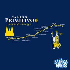 Camino Primitivo T-Shirt (dark blue/black)