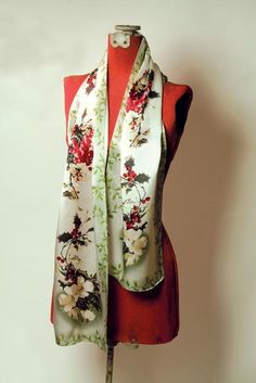 SILK SCARF WINTER BOTANICAL