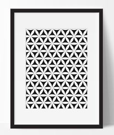 Black and white print black and white pattern by ElfinaGraphics