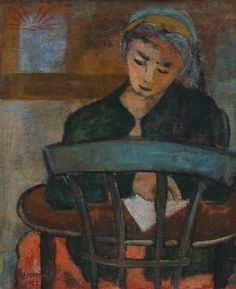 Figura femminile, 1923, by Arpad Szenes (Hungarian-French, 1897-1985)