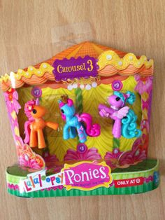 2013 Lalaloopsy Ponies CAROUSEL 3 *Target Exclusive* 3 Mini Pony