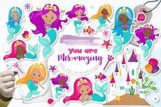 Unicorn Treats (Graphic) by Prettygrafik · Creative Fabrica Vector Clipart, Eps Vector, Vector File, Business Illustration, Graphic Illustration, Illustrations, Birthday Crafts, It's Your Birthday, Mermaid Clipart