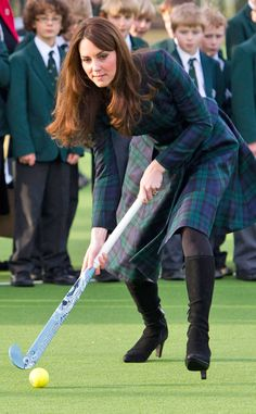 A-List Alma Mater from Kate Middleton's Sportiest Moments!  In November 2012, Kate played some field hockey back at St. Andrew's School in Berkshire, where she'd played on the school team as a pupil.
