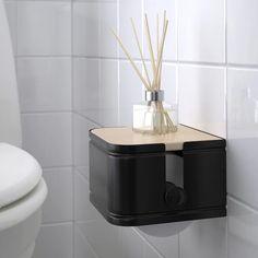 LILLASJÖN Toilet roll holder - IKEA Bathroom Wall Shelves, Small Bathroom Storage, Small Storage, Toilet Roll Holder Ikea, Ikea Toilet, Care Box, Toilet Accessories, Galvanized Steel, Packaging