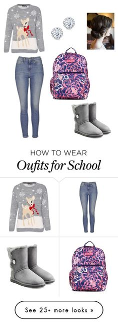 """""""Everyday School Winter Outfit"""" by shelby-lagueux on Polyvore featuring Topshop, UGG Australia, Vera Bradley and Kobelli"""