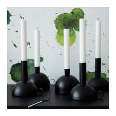 IKEA - SÄLLSKAP, Candle holder, You can easily create a decorative lighting group by combining candle holders with different designs and heights from the same series.A soft slide protector underneath keeps the candle holder firmly in place and protects the surface below.