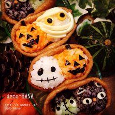 ハロウィンのデコいなり寿司をクックパッドにアップしました の画像|子ども弁当と巻き寿司などのデコフードブログ by 飾り巻き寿司教室 デコ巻きスタジオ HANA