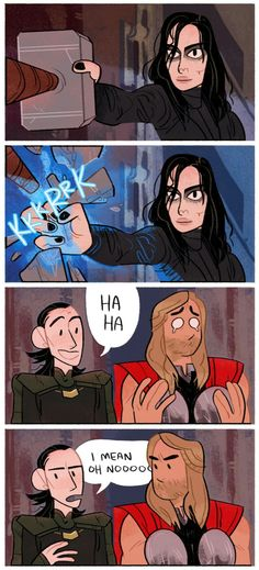 Thor's face though