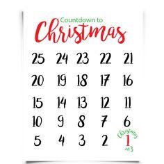 Free Printable Countdown to Christmas