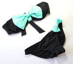 bowkini bikini mint bow bows summer 2014 outfits spring swimsuit swimwear beachwear bathing suits