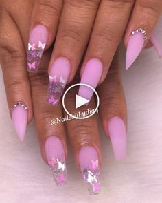 In look for some nail designs and some ideas for your nails? Here's our set of must-try coffin acrylic nails for fashionable women. Purple Acrylic Nails, Summer Acrylic Nails, Best Acrylic Nails, Summer Nails, Purple Nail, Winter Nails, Spring Nails, Gorgeous Nails, Pretty Nails