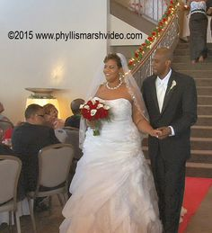 Happy couple leading the recessional. http://www.phyllismarshvideo.com