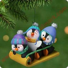 Buy 2001 Penguins At Play , Hallmark Ornaments, Hallmark Keepsake Ornaments, low flat-rate shipping Penguin Ornaments, Hallmark Christmas Ornaments, Polymer Clay Christmas, Hallmark Keepsake Ornaments, Christmas Crafts, Christmas Quotes, Clay Projects, Clay Crafts, Trending Christmas Gifts