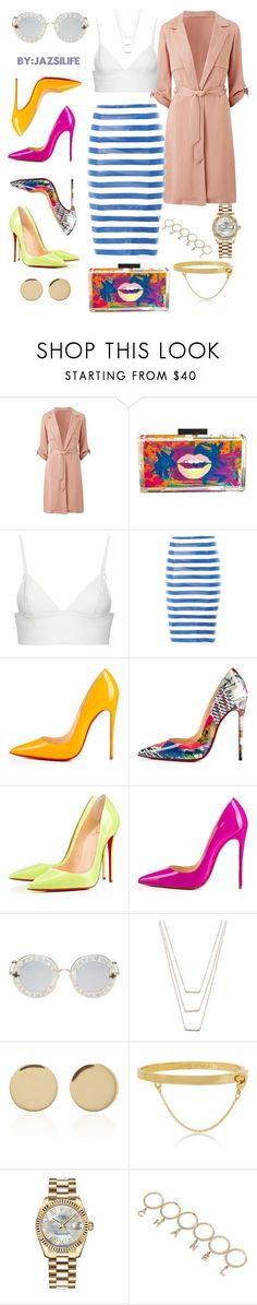 """""""Playtime"""" by jazsi on Polyvore featuring Stefanie Phan, T By Alexander Wang, Drome, Christian Louboutin, INDIAN ROSE, Gucci, ERTH, Magdalena Frackowiak, Eddie Borgo and Rolex"""