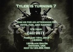 Call of Duty Black Ops Birthday Invitation by SweetnChicDesigns, $9.00