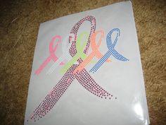 DIY Neon Rhinestone Meaningful Awareness Ribbons by cthorses66, $12.00