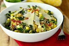 Easy Summer Quinoa using Farmers Market finds! | iowagirleats.com