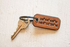 Find the longitude and latitude of your wedding venue (or your home or the place you met) and have the numbers stamped onto a leather keychain.