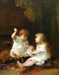 The old Doll - Pierre Oliver Joseph Coomans (Belgian, 1816 - 1889).