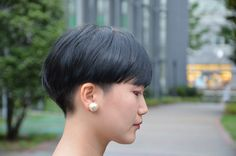 Daily Hairstyles, Pixie Hairstyles, Very Short Hair, Short Hair Cuts, Wavy Hair, Dyed Hair, Hair Inspo, Hair Inspiration, Japanese Short Hair