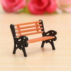 Resin Crafts Modern Park Benches Miniature Fairy Garden Miniatures Accessories Toys for Doll House Courtyard Decoration-in Resin Crafts from Home, Kitchen & Garden on Aliexpress.com | Alibaba Group