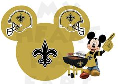 Printable DIY Mickey Mouse New Orleans Saints by MyHeartHasEars, $5.00
