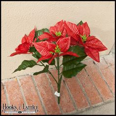 Artificial Poinsettia for Outdoor Use