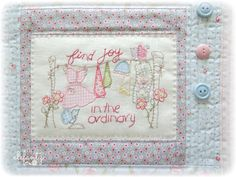 Last year many of you stitched along each month to the gently domestic melody of my BOM . Every one of the 12 designs shared throughout 2...