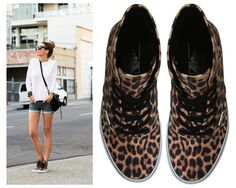 Leopard hi top sneakers #vans