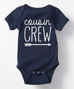 This Navy 'Cousin Crew' Bodysuit - Infant is perfect! #zulilyfinds
