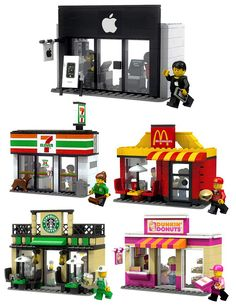 McDonald's MOC Lego Not a fan of branding in LEGO, but that Dunkin' Donuts is pretty cool...