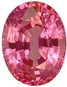 Genuine Pink Sapphire Loose Gemstone, Oval Cut, 7.2 x 5.5 mm, 1.45 Carats at BitCoin Gems