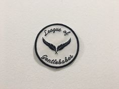 League of Gentlebabes iron on embroidery patch by halfstitchembroidery on Etsy https://www.etsy.com/listing/495373399/league-of-gentlebabes-iron-on-embroidery