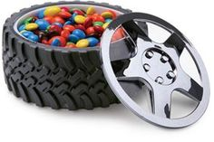 (This is exactly what i was thinking for for the candy bar / would also be cool centerpiece) Tire Bowl for a Racing Theme Bar Mitzvah Party