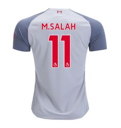 4db58179588 Mohamed Salah #11 Liverpool 2018/2019 Third Jersey by New Balance - white  New Free Shipping