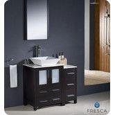 "Found it at Wayfair - Torino 36"" Single Modern Bathroom Vanity Set with Mirror"