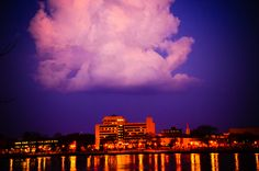 Cloud hanging over the Raddison Hotel. Lacrosse Wi