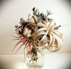 a Mid-Summer Night's Dream wedding by Tend: air plant & succulent bridal bouquet