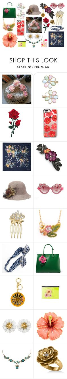 """""""Flower Power!"""" by sebmarketbk on Polyvore featuring Monsoon, Casetify, Aspinal of London, 1928, Mudd, Prada, Burberry, Michal Negrin, Allurez and Victoria's Secret"""