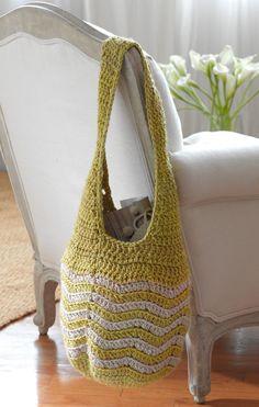 Free Crochet Pattern: Skipping Stone Tote  SKILL LEVEL:  Intermediate