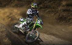 Download wallpapers Adam Cianciarulo, 4k, 2017 bikes, dirt bikes, motocross, Kawasaki KX250F, Kawasaki, Monster Energy, Pro Circuit