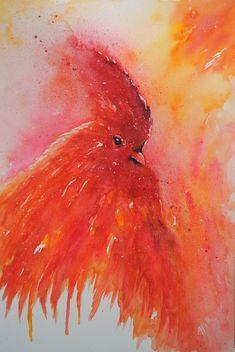 De Rode haan - Originele haan aquarel/schilderij Red Rooster, Watercolor Paintings, The Originals, Art, Red Roaster, Art Background, Water Colors, Kunst, Performing Arts