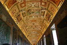 Ceiling of the Sistine Chapel, Vatican City. Our Honeymoon was spent in Italy
