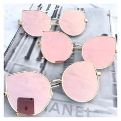 Rose gold mirrored sunglasses Rose gold aviator sunglasses Rose gold cat eye sunglasses Wire sunglasses UV protection Top quality