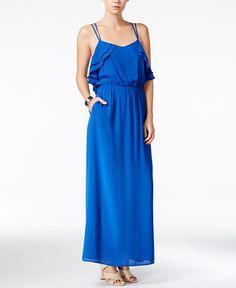 Bar III Ruffled Maxi Dress, Only at Macy's