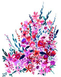 Scarlett Floral Art Print by Amy Sia | Society6